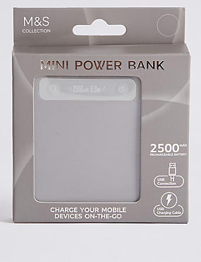 Mini Power Bank, SILVER GREY, catlanding