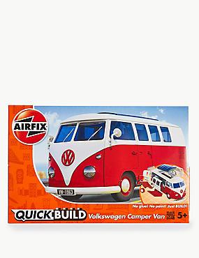 VW Campervan Quick Build, RED, catlanding