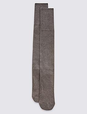 2 Pack Cool & Freshfeet™ Long Length Socks, CHARCOAL, catlanding