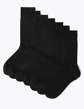 7 Pairs of Cotton Rich Socks
