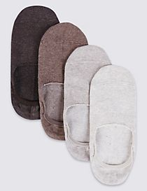 4 Pairs of Cool & Freshfeet™ Invisible Shoe Liners