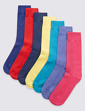7 Pair Pack Assorted Socks