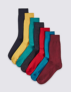 7 Pack Freshfeet™ Autumn Cotton Rich Socks