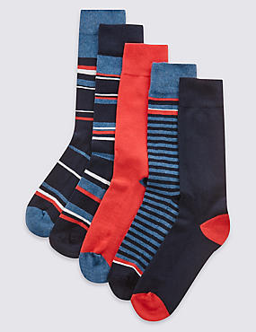 5 Pair Pack Assorted Socks