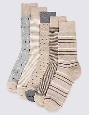 5 Pairs of Cool & Freshfeet™ Assorted Socks