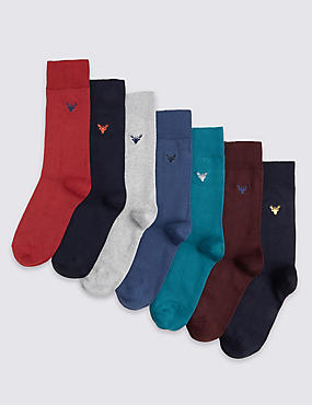 7 Pair Pack Freshfeet™ Cotton Rich Socks with Silver Technology