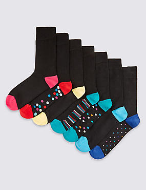 7 Pairs of Freshfeet™ Design Socks