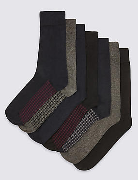 7 Pairs of Freshfeet™ Cotton Rich Socks
