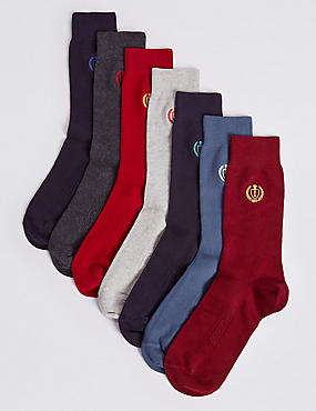 7 Pairs of Cool & Freshfeet™ Embroidery Socks