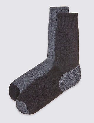 2 Pairs of Cotton Rich Freshfeet™ Socks Clothing