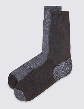 2 Pack Cotton Rich Freshfeet™ Socks, DENIM MIX, catlanding