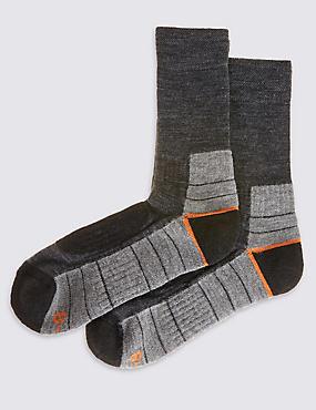 2 Pack Boot Walking Socks, GREY MIX, catlanding