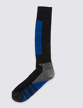 Wool Blend Ankle High Socks, BLUE MIX, catlanding