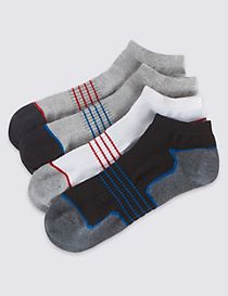 4 Pairs of Cool & Fresh™ Trainer Liner Socks