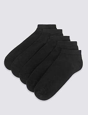5 Pairs of Trainer Liner Socks