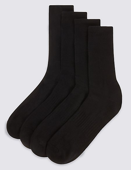 4 Pack Cotton Rich Sports Socks
