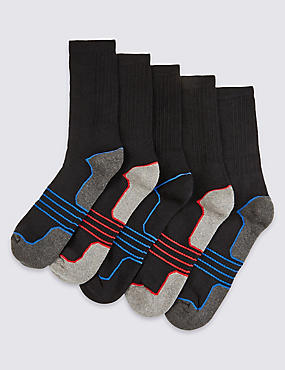 5 Pairs of Cool & Fresh™ Sports Socks