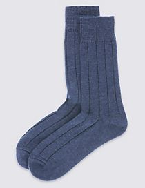 2 Pack Wool Blend Short Thermal Socks