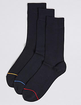 3 Pack Heatgen™ Thermal Socks, NAVY, catlanding