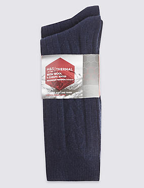 2 Pair Pack Wool Rich Thermal Socks