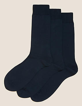 3 Pairs Of Luxury Egyptian Cotton Rich Socks