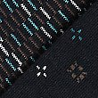 3 Pack Cotton Rich Dash Design Socks, BROWN MIX, swatch