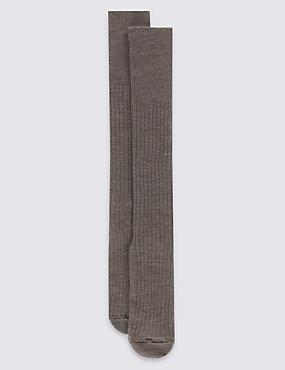2 Pack Lambswool Rich Socks, NATURAL, catlanding