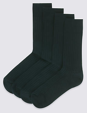 4 Pairs of Lambswool Rich Socks