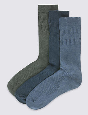 3 Pairs of Freshfeet™ Cotton Rich Socks