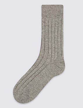 Ankle High Socks with Cashmere