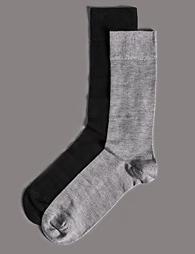 2 Pairs of Modal with Cashmere Socks