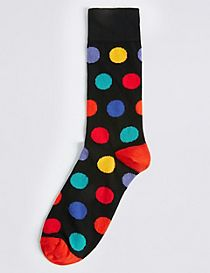 Cotton Rich Spotted Socks