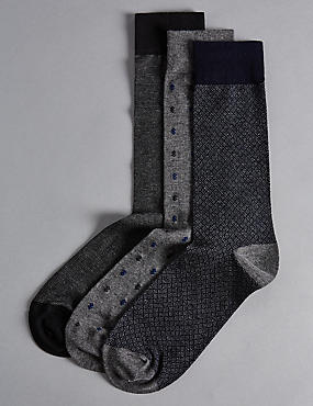 3 Pairs of Modal Blend Socks