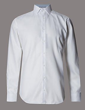 2in Longer Supima® Cotton Basket Weave Shirt