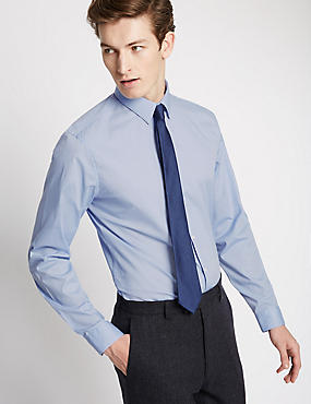 Cotton Rich Easy to Iron Slim Fit Shirt