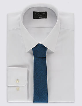 Slim Fit Easy to Iron Shirt with Tie