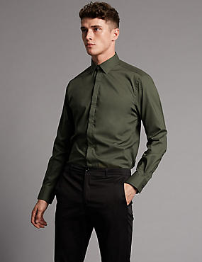 Supima® Cotton Tailored Fit Stretch Shirt