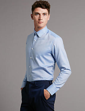Supima® Tailored Fit Pure Cotton Shirt