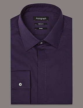 Cotton Rich Tailored Fit Shirt, RICH PURPLE, catlanding