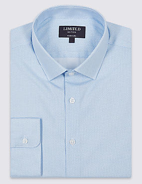 Pure Cotton Easy to Iron Modern Slim Fit Shirt