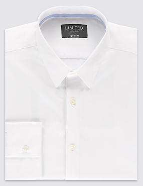 Cotton Rich Easy to Iron Superslim Shirt