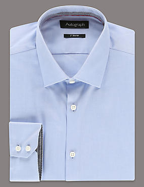 2in Shorter Pure Cotton Tailored Fit Shirt