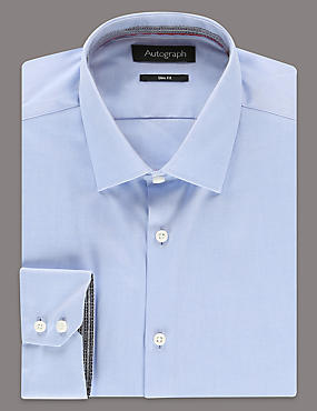 Pure Cotton Slim Fit Long Sleeve Shirt