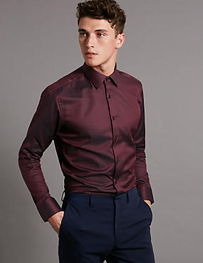 Supima® Cotton Tailored Fit Twill Shirt
