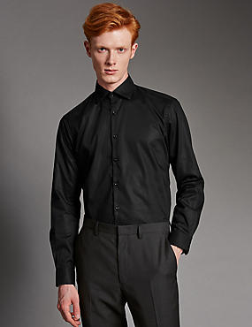 Supima® Cotton Tailored Fit Shirt with Stay Dark Technology