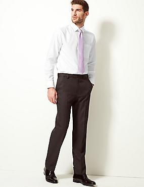 Pure Cotton Non-Iron Tailored Fit Shirt, WHITE, catlanding