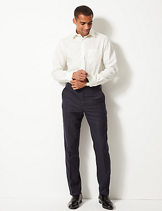 Performance Non-Iron Pure Cotton Twill Shirt Clothing