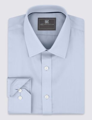 Sky Performance Non-Iron Pure Cotton Twill Shirt Outfit