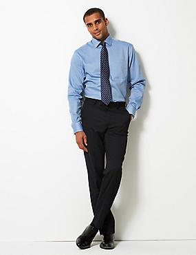 Pure Cotton Non-Iron Regular Fit Shirt, BLUE BLUE, catlanding