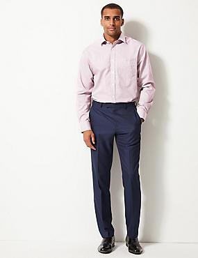 Pure Cotton Non-Iron Regular Fit Shirt, PINK, catlanding